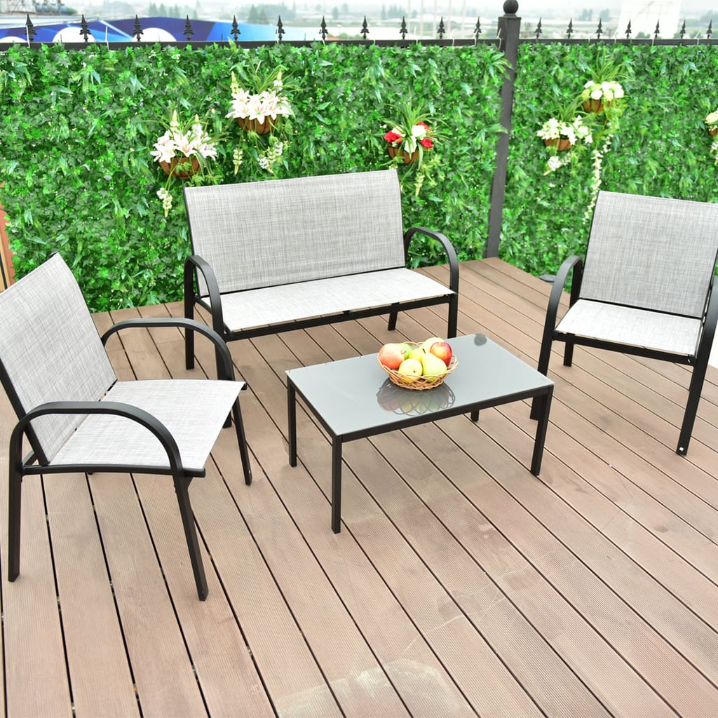 Costway Patio Furniture Set Best Cheap Patio Furniture Popsugar