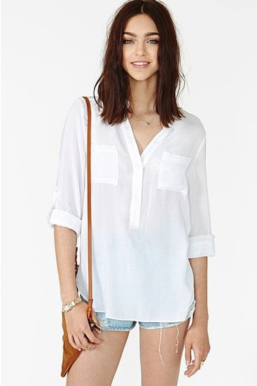 Add this easy Nasty Gal Daydream blouse ($42) to printed jeans or a patterned miniskirt and heels for a casual, albeit cool, going-out look.