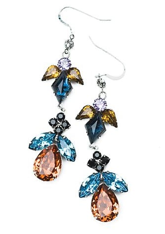 Tom Binns Crystal Drop Earrings
