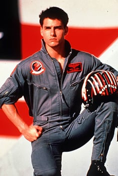 Tom Cruise looked hot in uniform for Top Gun back in 1986.
