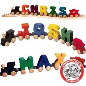 Personalized Wooden Name Train - 6 Letters ($45)