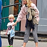 Naomi Watts and Samuel Schreiber on the street in NYC.
