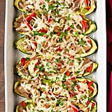 Philly Cheesesteak Courgette Boats