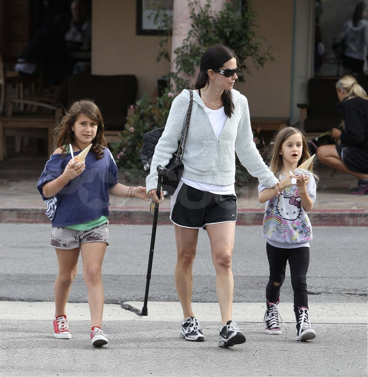 Courteney Cox Brings Coco and Her Cane to Ice Cream