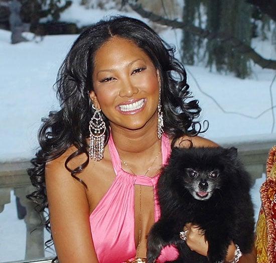 Kimora Lee Simmons and her dog, Zoe