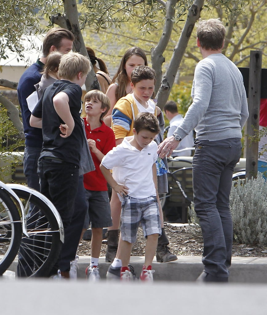 David Beckham and Gordon Ramsay organized the kids in Napa for an Easter outing.