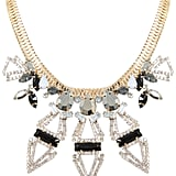 Yours Clothing Black, Silver & Gold Statement Necklace (£16)