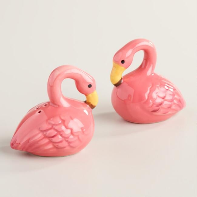 Ceramic Flamingo Salt and Pepper Shakers ($10)