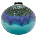 Rivet Mid Century Modern Round Ceramic Home Decor Flower Vase