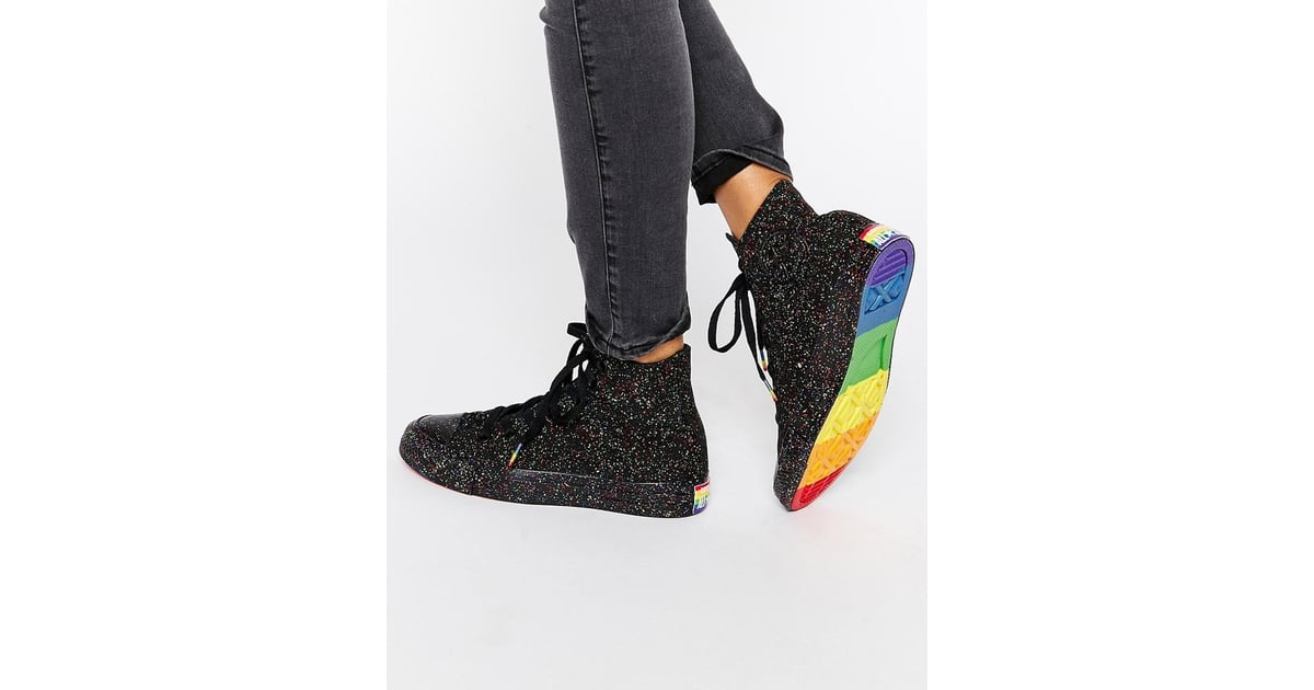 7ad8e1af39cf Converse Pride Rainbow Speckle Chuck Taylor High Top Trainers