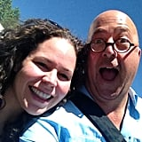 TV host and chef Andrew Zimmern was pretty excited to hang out with fellow chef Stephanie Izard.  Source: Instagram user chefaz