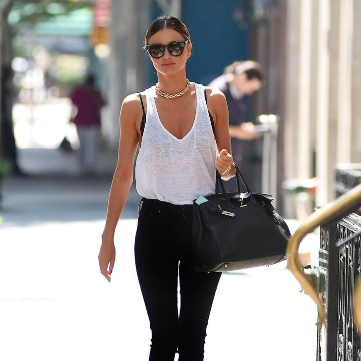 Miranda Kerr's Street Style Look | Summer Booties