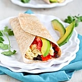 Healthy Breakfast Burrito With Avocado and Chipotle Yogurt