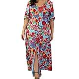 Maree Pour Toi Floral-Print Peasant Maxi Dress