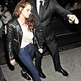 Kristen Stewart dressed down to hit the afterparties.