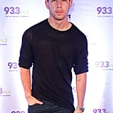Nick Jonas popped up in Tampa, FL, on Monday for 93.3 FLZ's Jingle Ball.