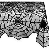 Black Spider Web Tablecloth