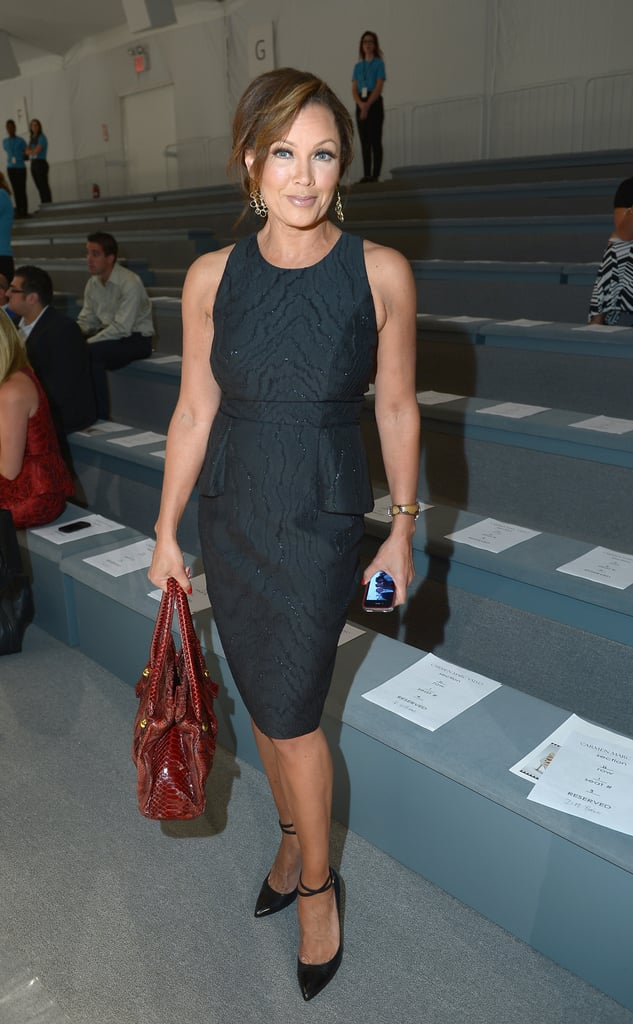 Vanessa Williams looked sharp and sophisticated at the Carmen Marc Valvo show on Friday.