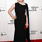She wore a black caped gown to the 2017 Tribeca Film Festival.