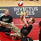 He took another stab at seated volleyball at the Invictus Games in March 2014.