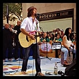 Jason Mraz performed on the Today show. Source: Instagram user todayshow