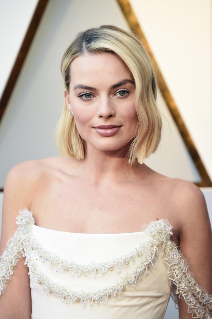 Margot Robbie White Chanel Dress at Oscars 2018