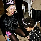 Blue Ivy played with balloon animals at her birthday party. Source: Tumblr user Beyoncé Knowles