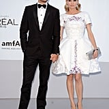 Diane Kruger and Joshua Jackson stopped for pictures on their way into the amfAR Cinema Against AIDS gala.