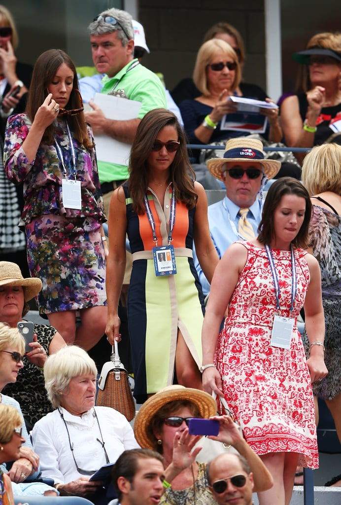 Pippa arrived — looking very chic — at the US Open on September 4, 2012.