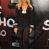 Rachel Zoe wore a classic Chanel jacket with flared trousers.