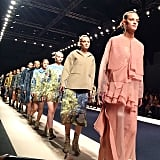 Most runway clothes are never actually made. Fashion Week is not as glamorous as it looks in the pictures. There are lots of blisters, late nights, and frantic write-ups involved.