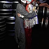 Steve Aoki and Nicole Zimmermann as Jack Skellington and Sally
