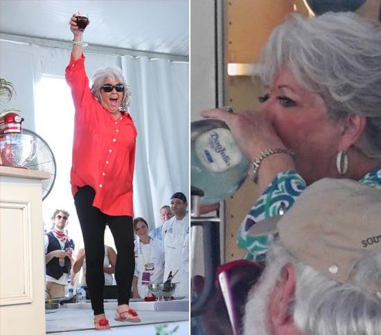 Paula Deen Riding Robert Irvine Picture 2014