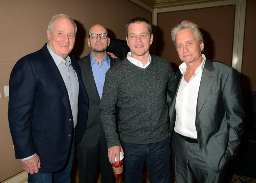 Matt Damon, Steven Soderbergh, Jerry Weintraub, and Michael Douglas attended the HBO Winter 2013 TCA.