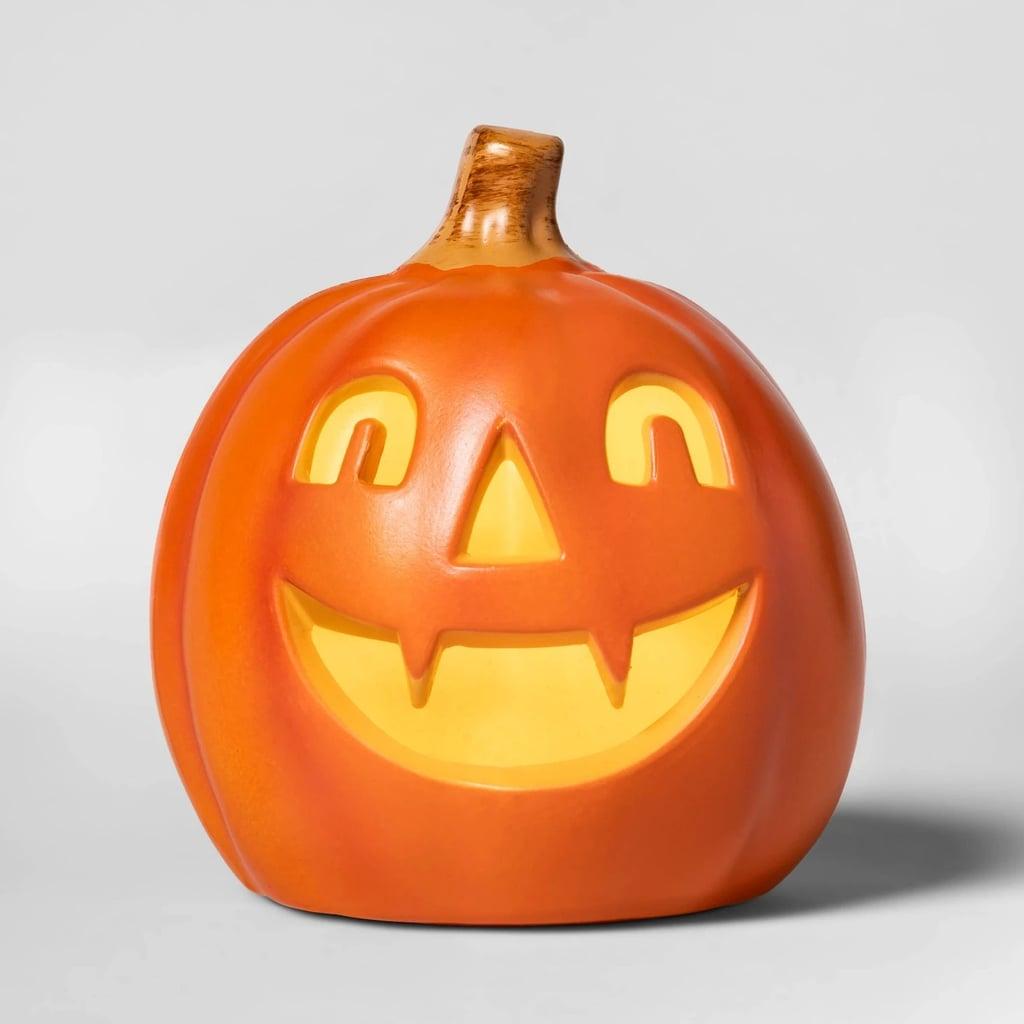 Lit Pointy Teeth Pumpkin