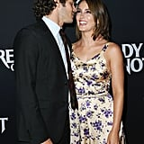 Leighton couldn't contain her laughter as she posed with Adam at the Ready or Not premiere in August 2019.