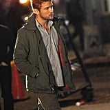 Ryan Phillippe arrived on the NYC set of Damages.