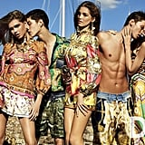 Vibrant mixed prints and high-necked blouses were prevalent in the D&G Spring '12 ads. Source: Fashion Gone Rogue