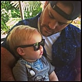 Hilary Duff's boys — Luca and Mike — bonded at the San Diego Zoo. Source: Twitter user HilaryDuff