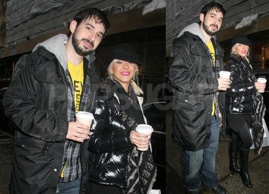 Photos of Christina Aguilera and Jordan Bratman Shopping in NYC