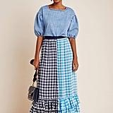Gigi Ruffled Gingham Maxi Skirt