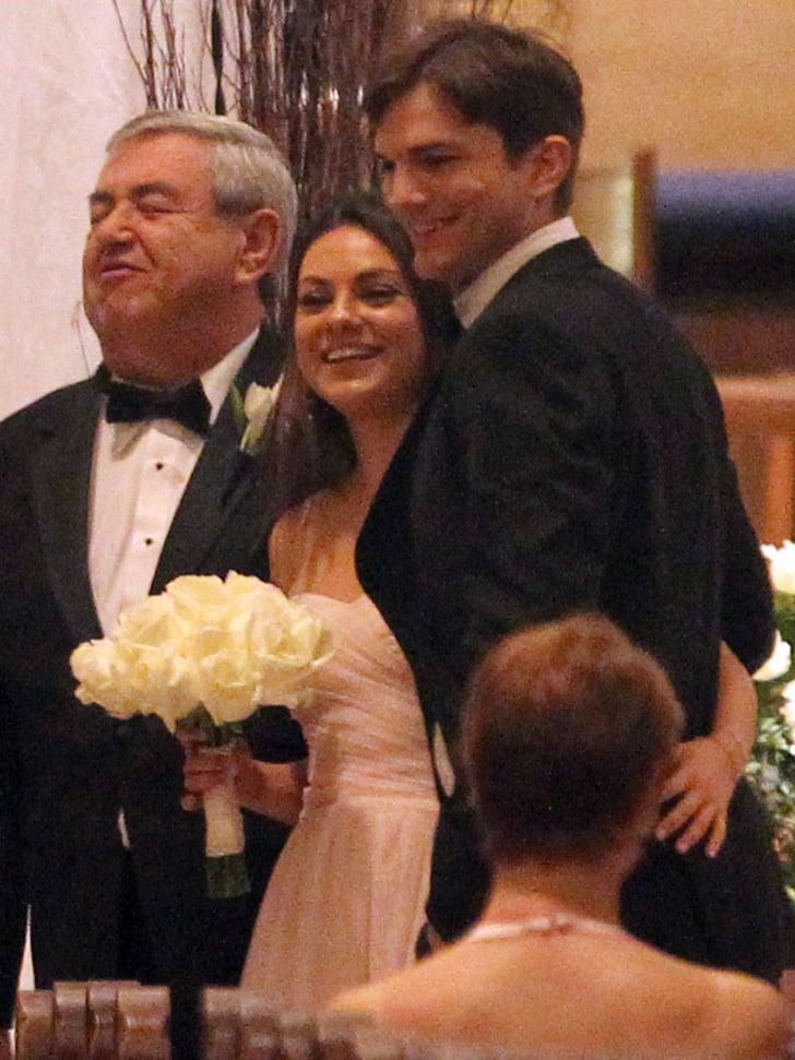 Ashton Kutcher And Mila Kunis Wedding.Mila Kunis And Ashton Kutcher At Family Wedding Popsugar Celebrity