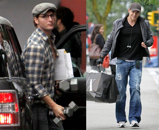Photos of Peter Facinelli and Kellan Lutz Running Errands in Vancouver Off the Set of Eclipse