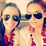 "Lauren Conrad called Hannah her ""favorite travel buddy."" Source: Instagram user laurenconrad"