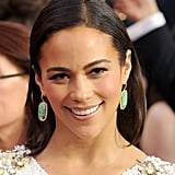 Paula Patton's Kimberly McDonald earrings were a bright addition to her beaded gown.