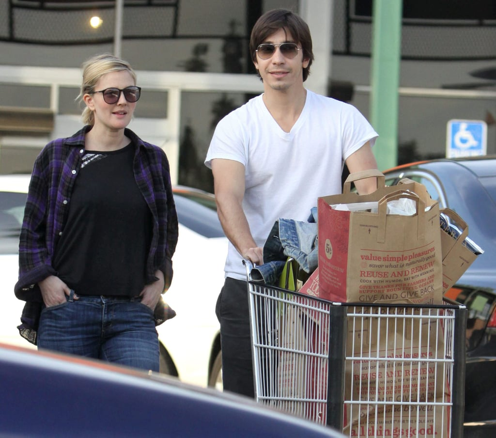 Photos of Drew Barrymore and Justin Long out Shopping Together