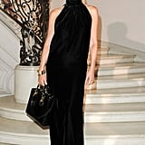 Sharon Stone made a full-on Hollywood arrival in black shades and a black maxi.