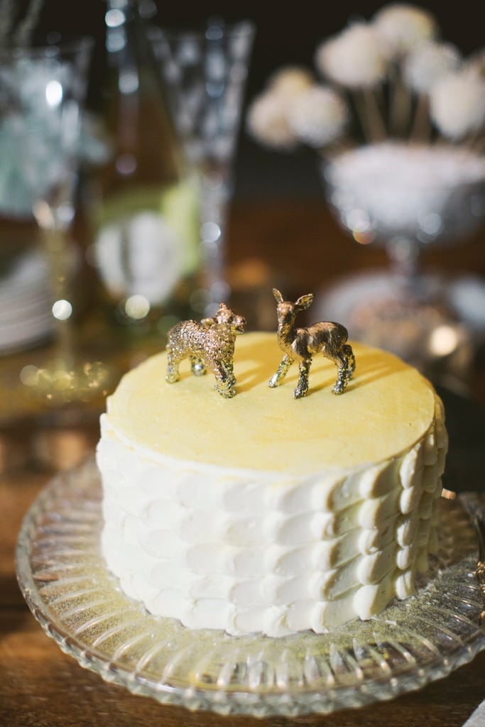 Simple with a playful twist, this wedding cake isn't afraid to be unique and a bit edgy.