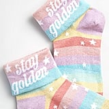 Stay Golden Shimmer Socks