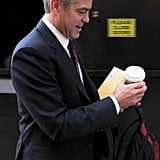 George Clooney Skips Green Beer Day to Get Filming